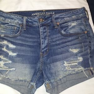 TOMGIRL Destroyed denim shorts